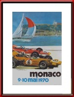 Originele 1970 Monaco Grand Prix Race Poster