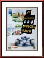 Originele 1997 Monaco Grand Prix Race Poster